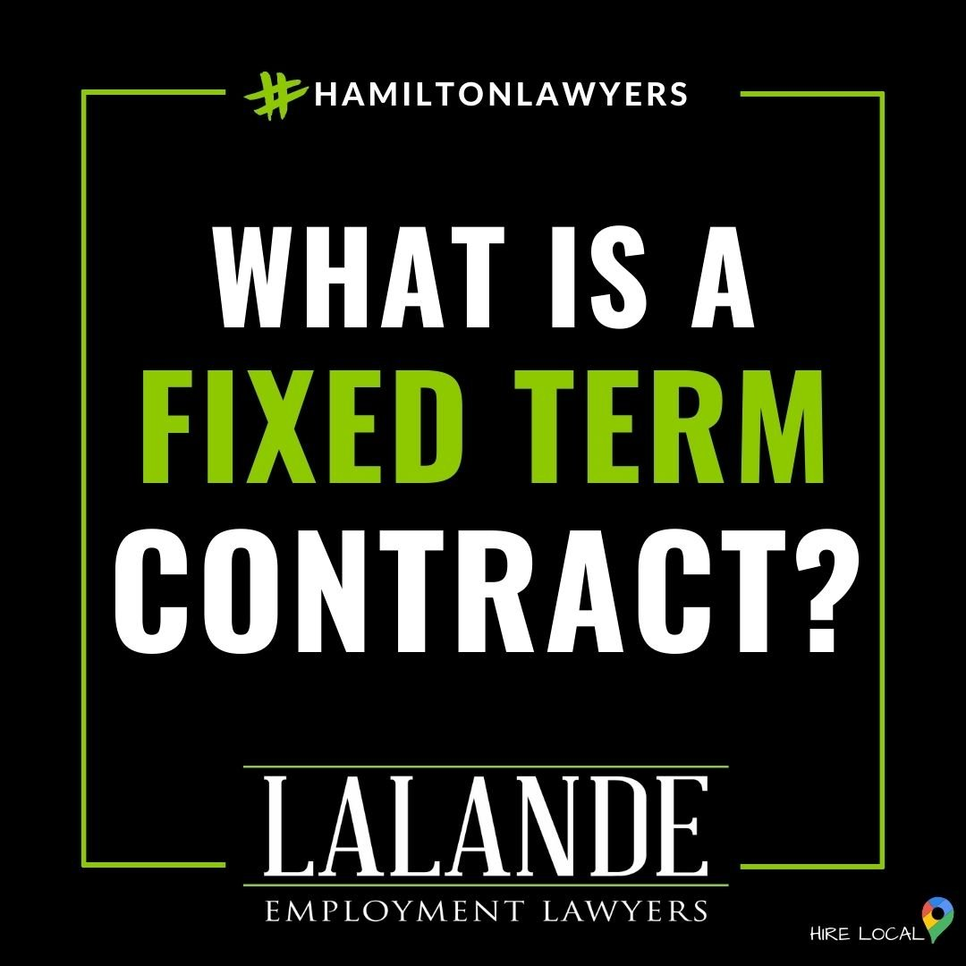 What happens at the end of a fixed term contract?