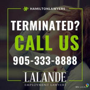 terminated fired lost job? Call Lalande Employment Lawyers